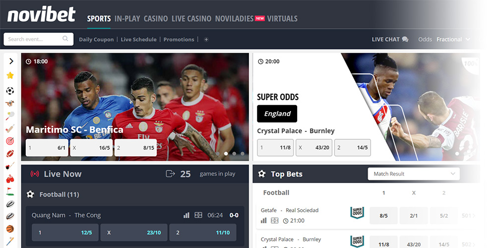 novibet website — UK Betting for Indian Players
